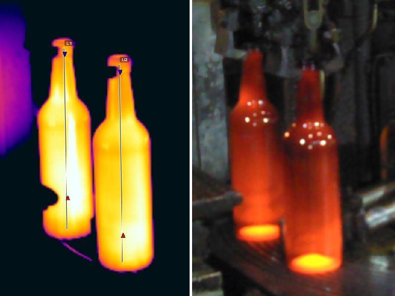 Fabricación envases de vidrio Apliter Termografía