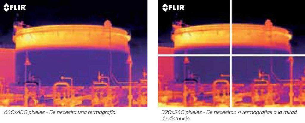 resolucion en las camaras termograficas, diferencias de mediciones, apliter termografia