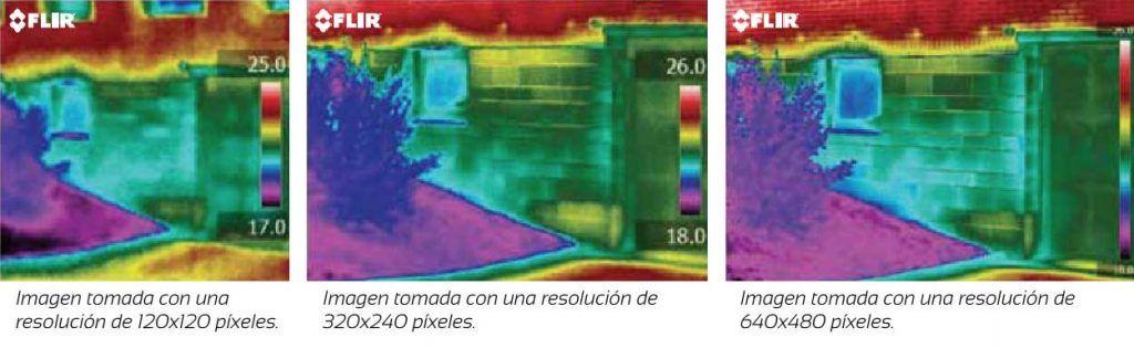 resolucion en las camaras termograficas, diferencia entre resoluciones, apliter termografia