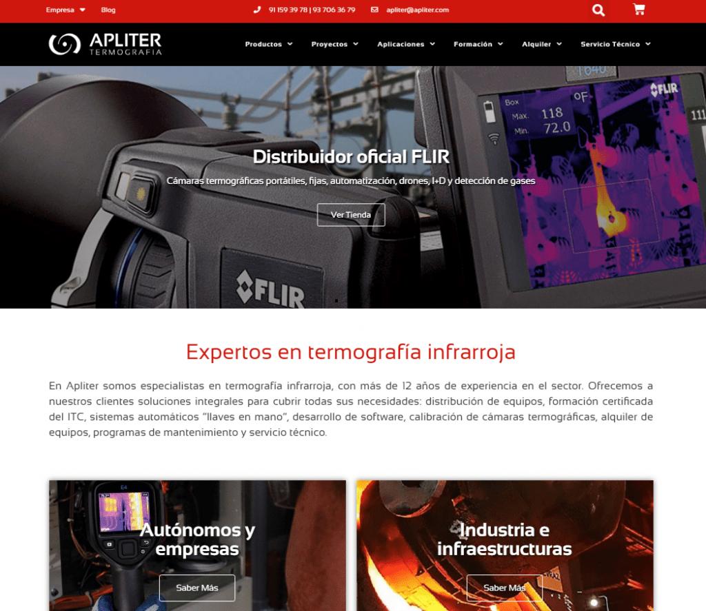 Home nueva web, Apliter Termografia