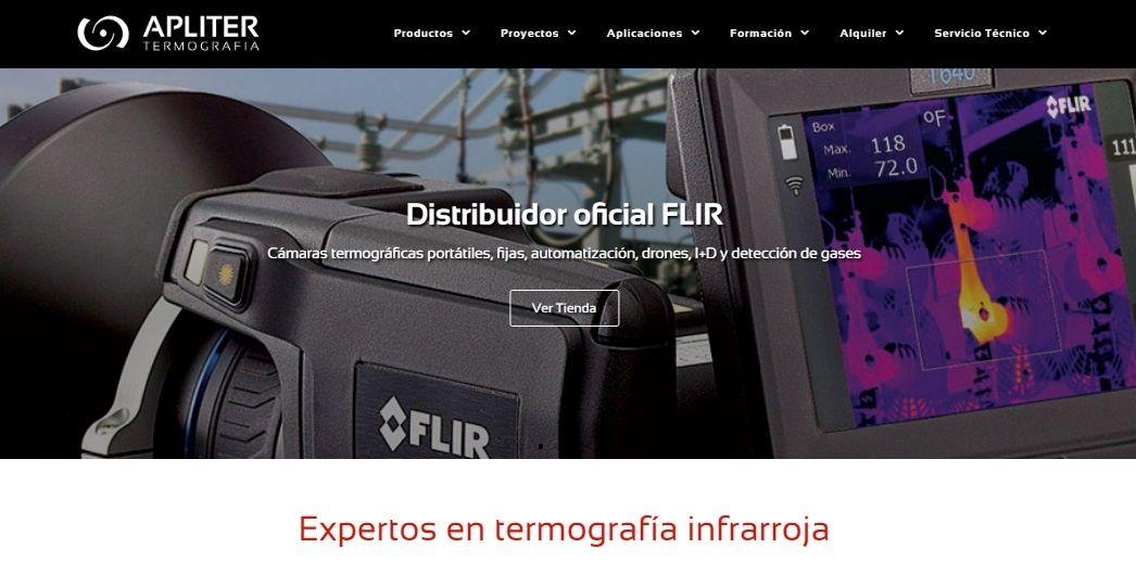 imagen destacada de la nueva web de apliter, apliter termografia