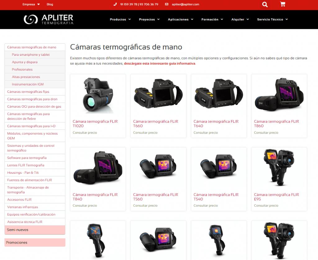 Tienda Online, Apliter Termografia